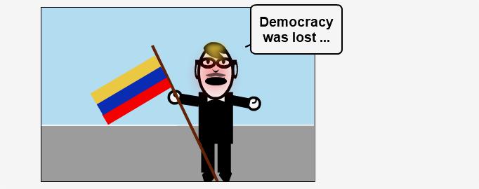 Democracy was lost ...