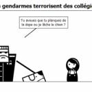 Des gendarmes terrorisent des collégiens