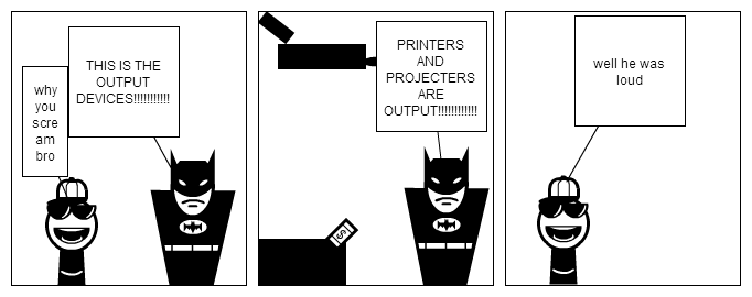 OUTPUT DEVICES!!!!!!!!!BY BATMAN