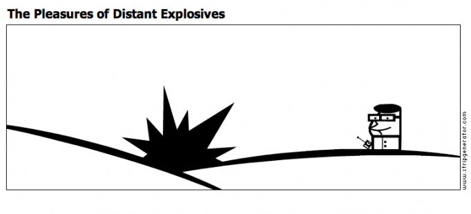 The Pleasures of Distant Explosives