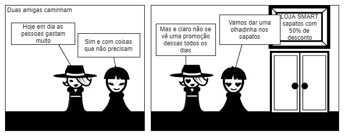 Tirinha - Compras