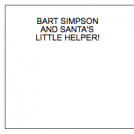 BART SIMPSON AND SANTA'S LITTLE HELPER