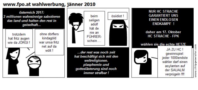 www.fpo.at wahlwerbung, jänner 2010