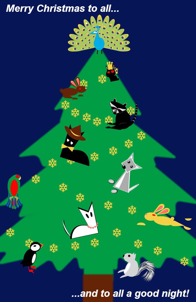 Thin Man Christmas Tree