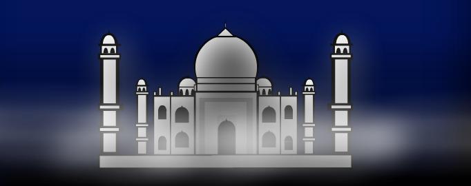 Taj Mahal in the evening