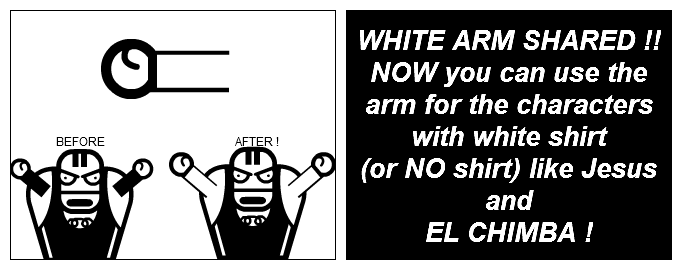 WHITE ARM SHARED !