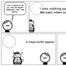 The ninja turtle