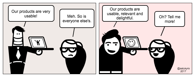 UX cartoon: Usability as only selling point