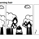 The man with the burning hair