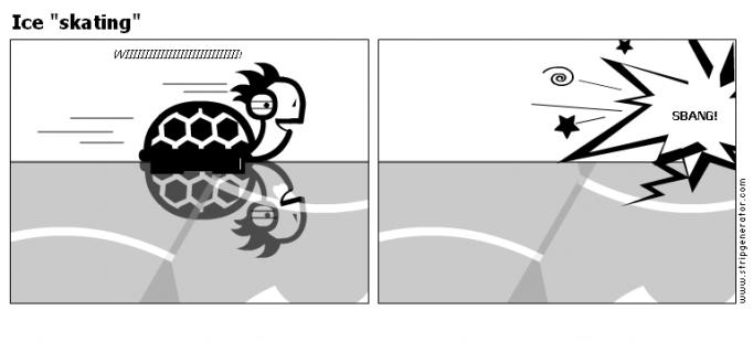 """Ice """"skating"""""""