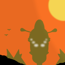 Motorcyclist In The Sunset