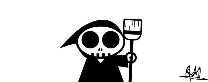 Illustration of the Grim Sweeper Via The Strip Generator. Illustration bu rukowski