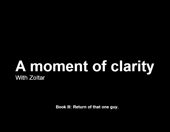 A moment of clarity III (cover)