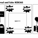Diffrence between real and fake NINJAS