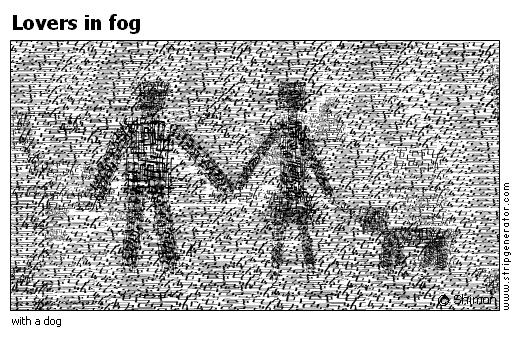 Lovers in fog