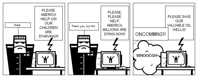 America's helping hand