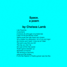 Space.  a poem