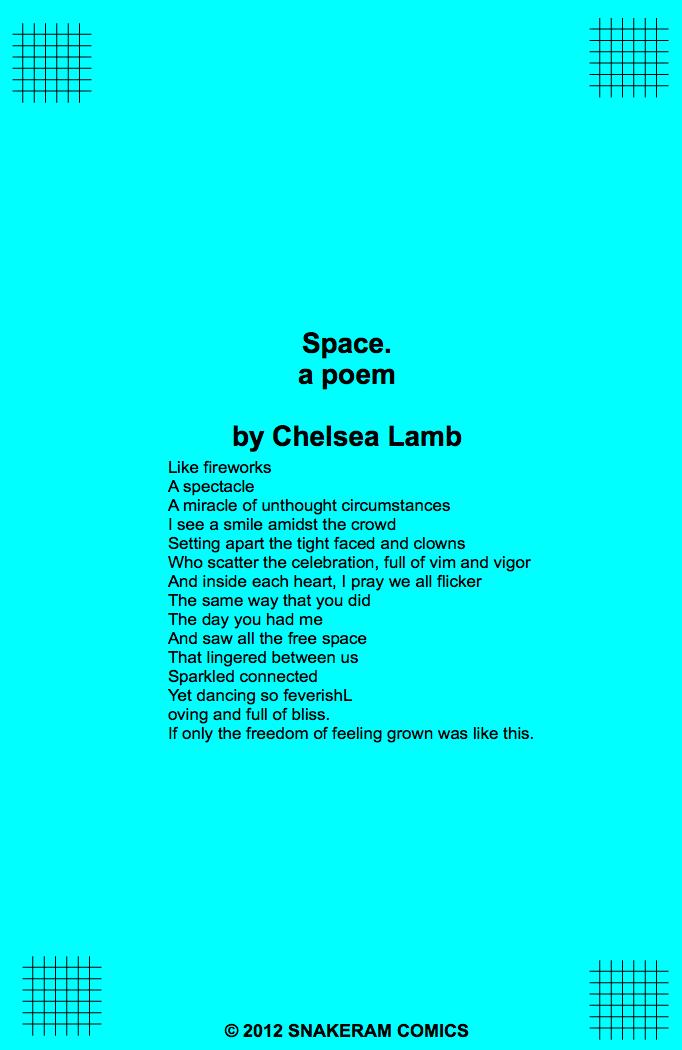 Space.  a poem