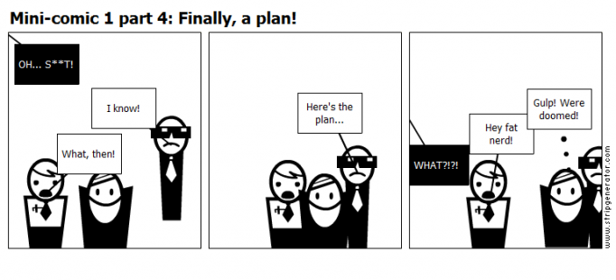 Mini-comic 1 part 4: Finally, a plan!