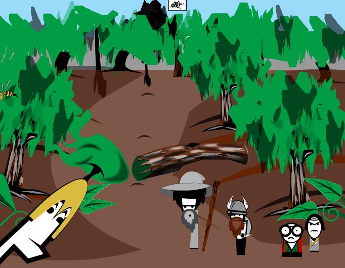 Zeek and friends on an adventure