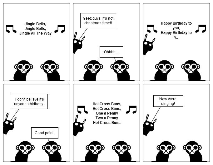 -The Two Monkeys- Hot Cross Buns!