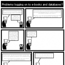 Problems logging on to e-books and databases