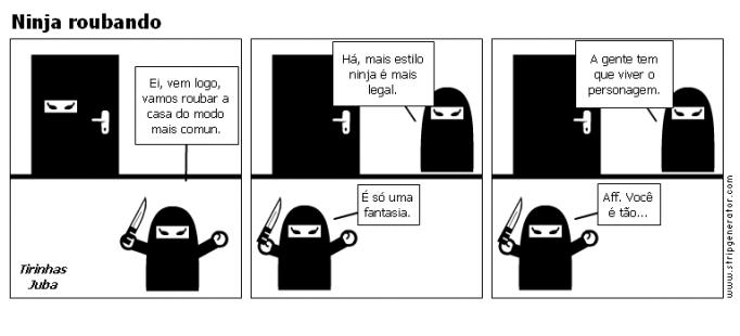 Ninja roubando