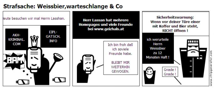 Strafsache: Weissbier,warteschlange & Co