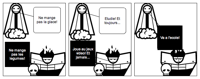 The angel and the devil (french)