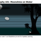 Moonshine on Water