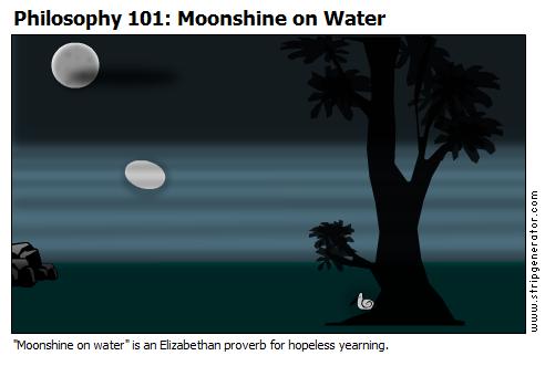 Moonshine on Water
