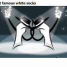 the most famous white socks