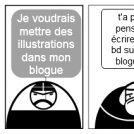 illustration pour un blogue