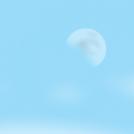 DAY SKY MOON