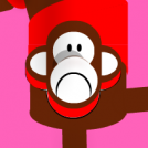Monkey press-up toy