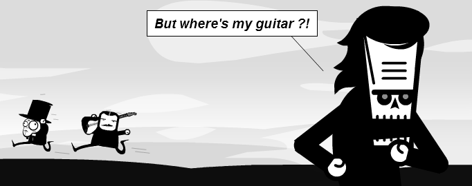 But where's my guitar?