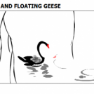 WEEPING WILLOW AND FLOATING GEESE