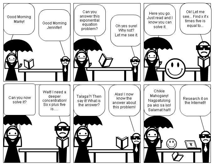 online mathematical comic strips