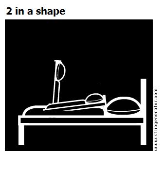 2 in a shape