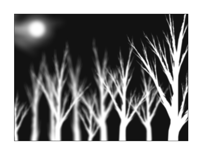 Ghost Birches Under Wintermoon