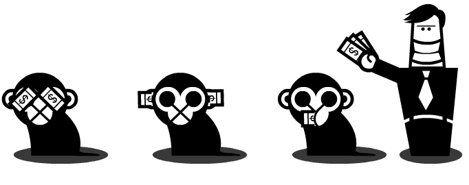 Three wise monkeys revisited