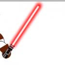 Stupid laser sword