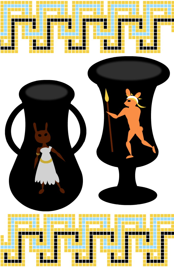 Greek Vase Bunnies