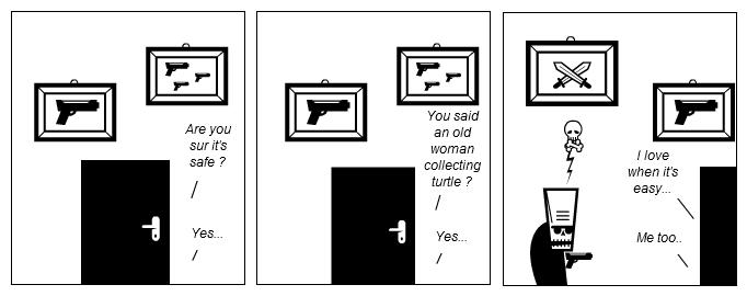 Burglar surprise