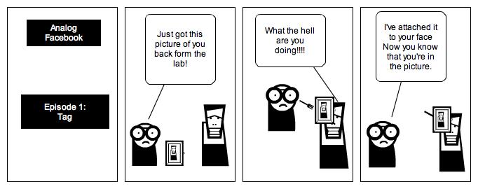 Analog Facebok: Tag