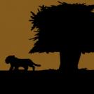 Tiger Cub Silhoutte