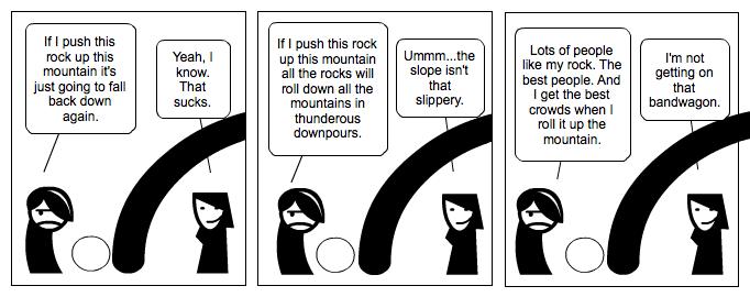 Sisyphus & logical fallacies