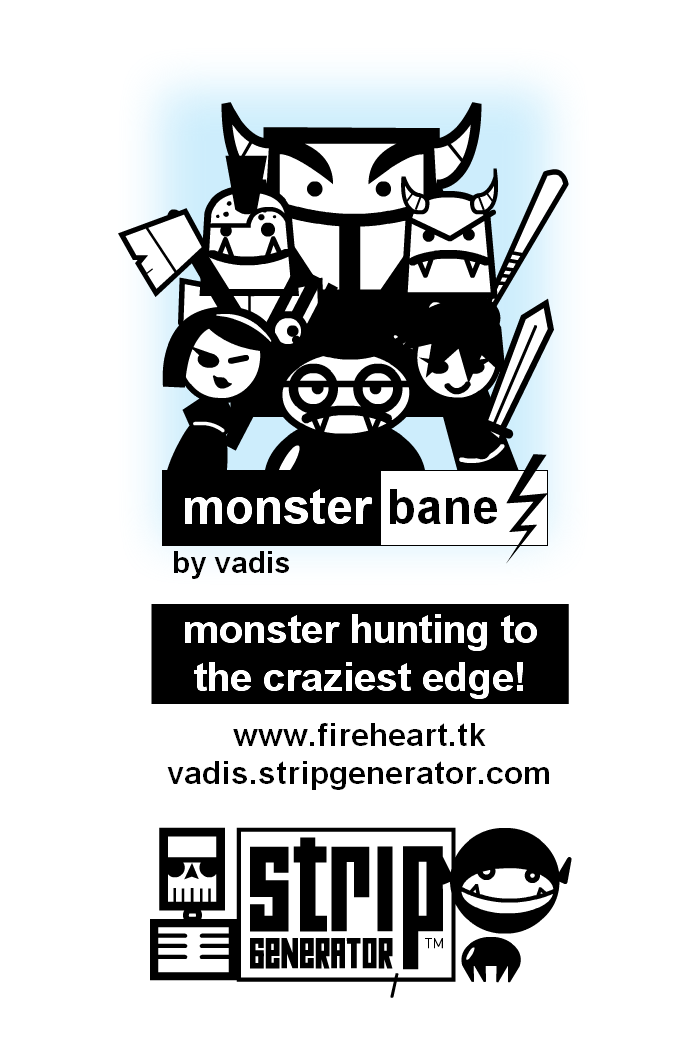 monsterbane! booklet cover
