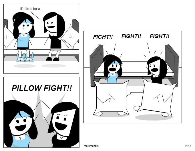 PILLOW FIGHT!!!
