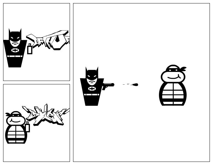 batman vs tortuga ninja